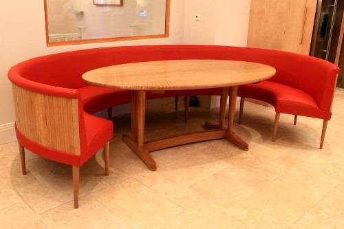 Round Dining Table Bench Hawk Haven - Round booth table