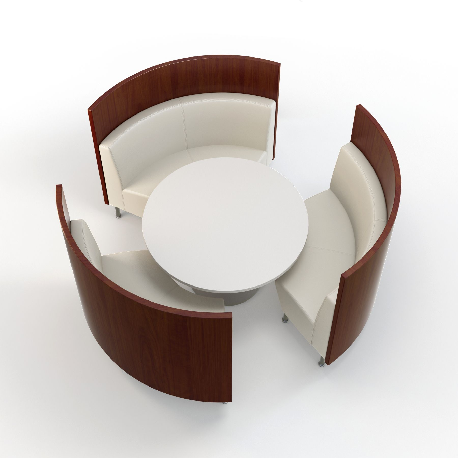 round dining table booth photo - 6