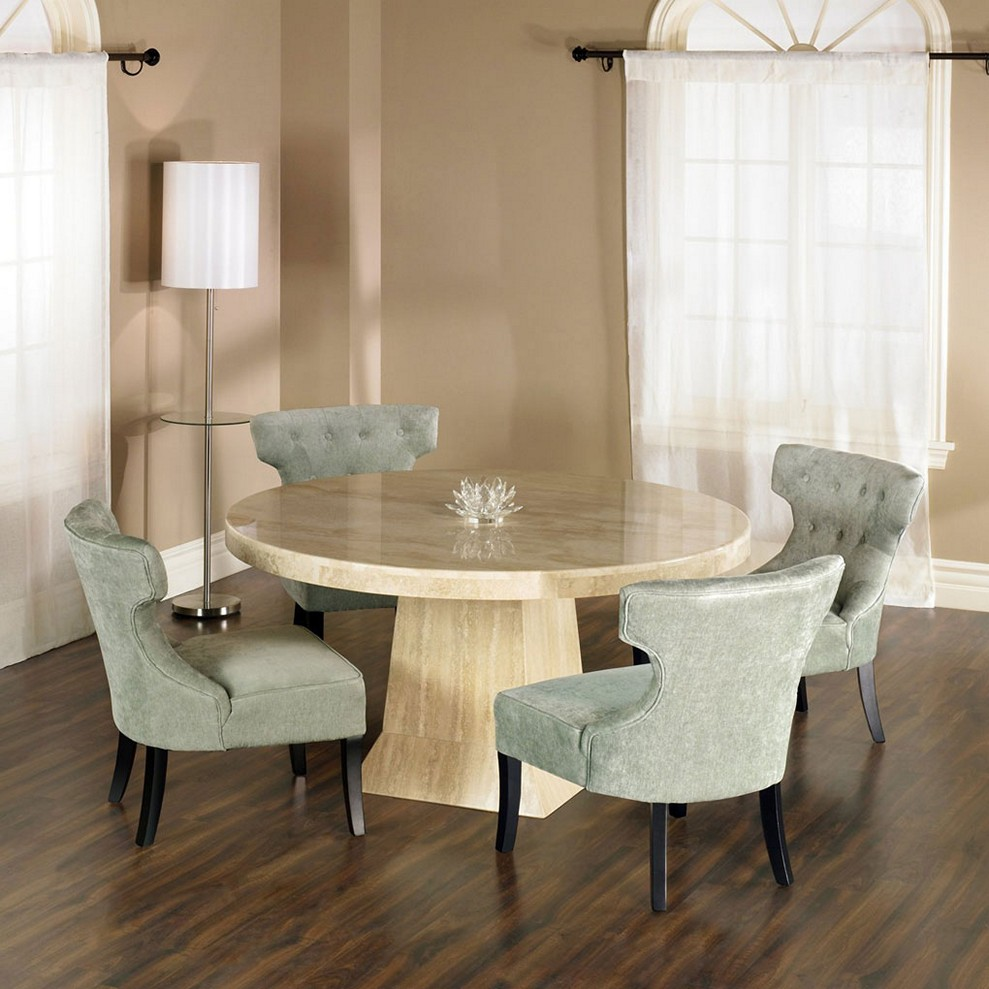 round dining table granite photo - 10