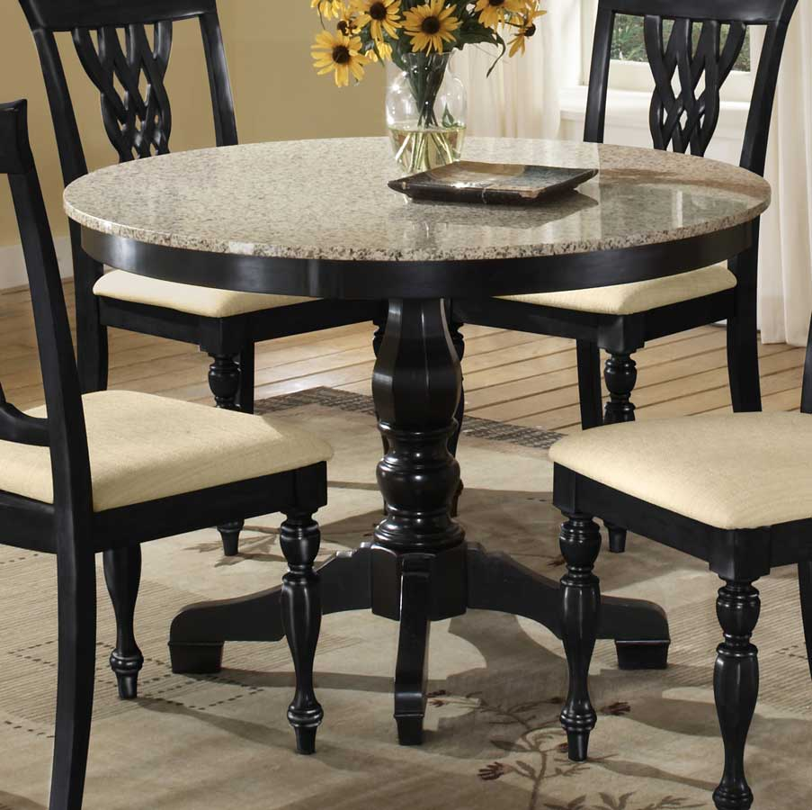 round dining table granite photo - 2
