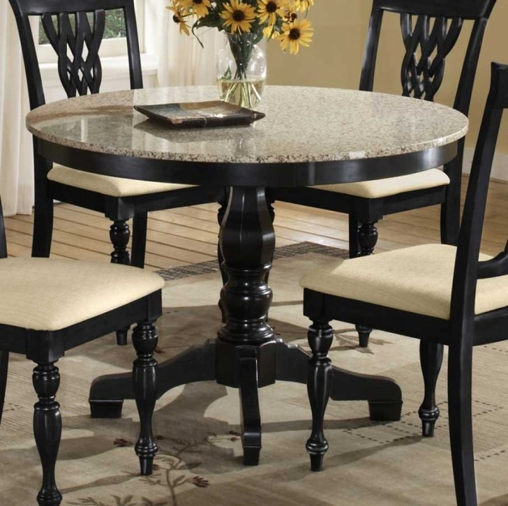 round dining table granite photo - 3