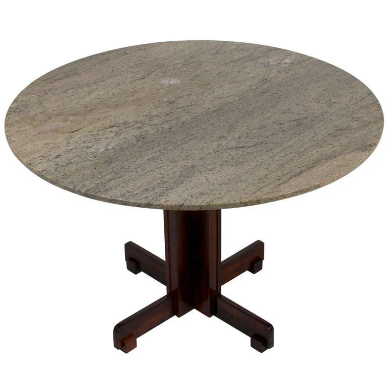 round dining table granite photo - 6