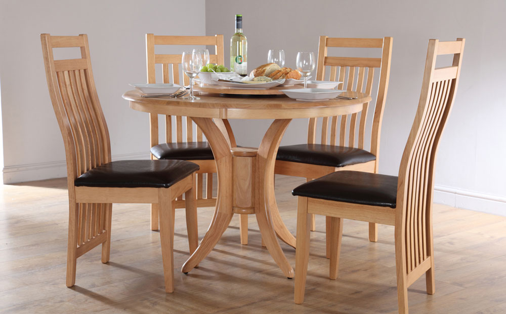 round dining tables and chairs photo - 1