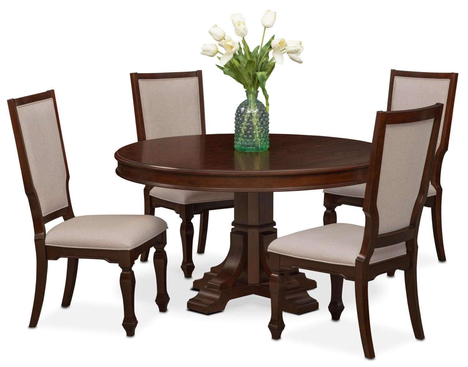 round dining tables and chairs photo - 10
