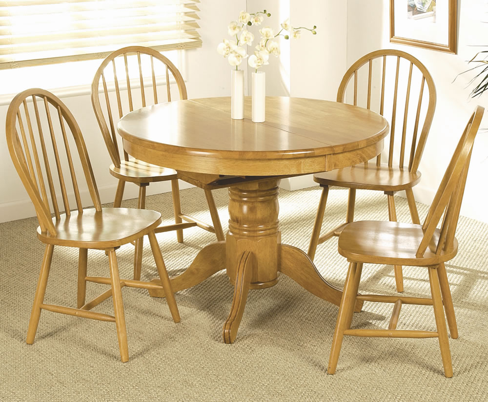round dining tables and chairs photo - 6