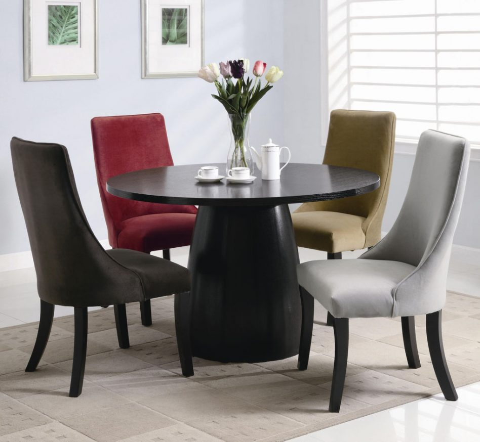 round dining tables and chairs photo - 9
