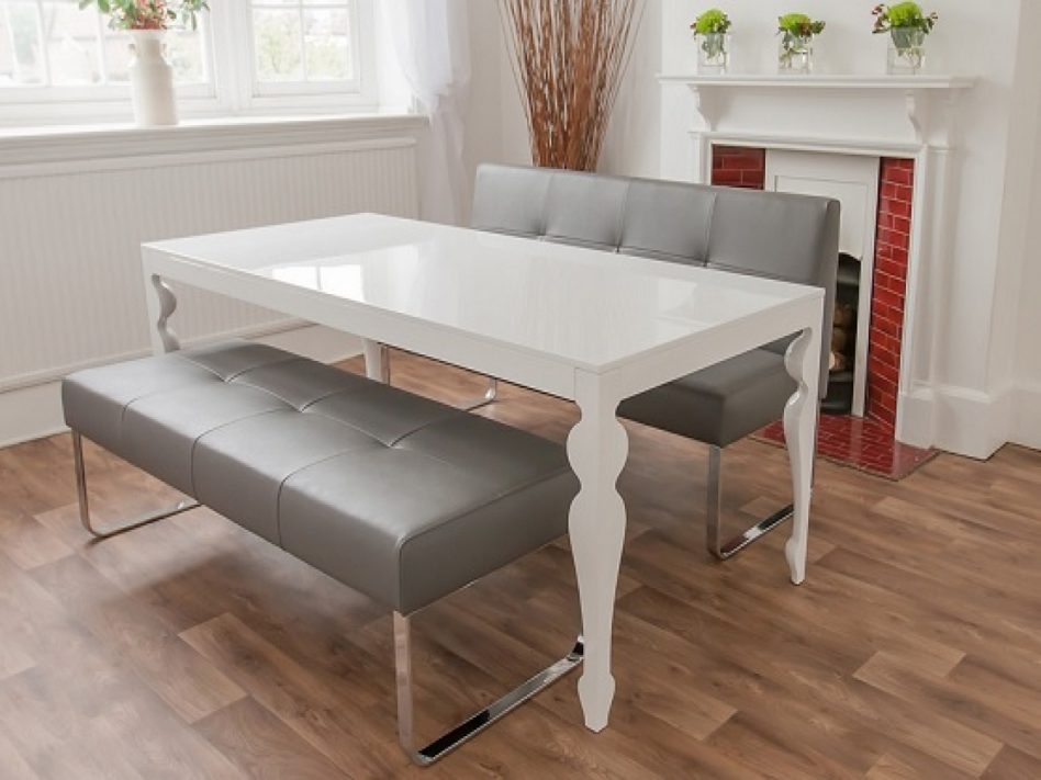 round dining tables bench seating photo - 5