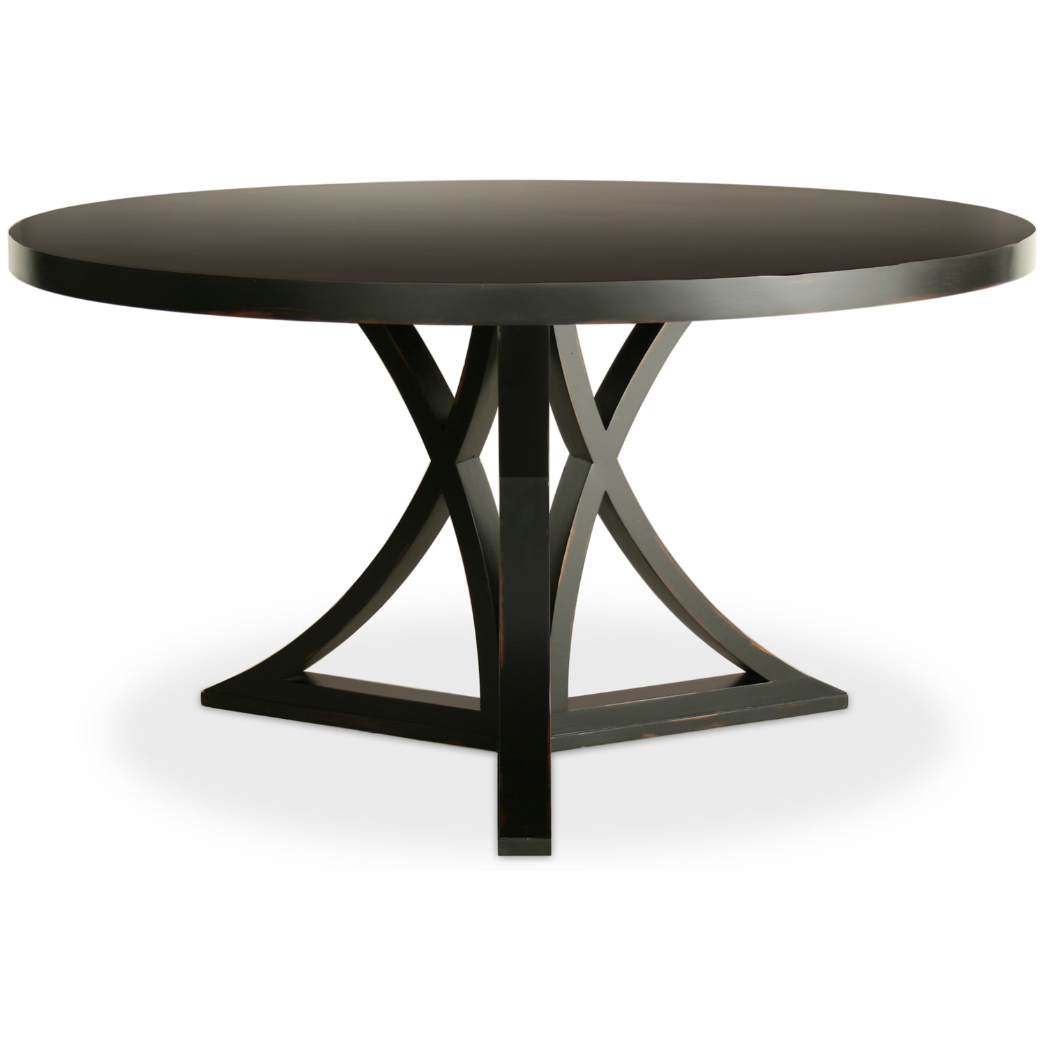 round dining tables black photo - 3