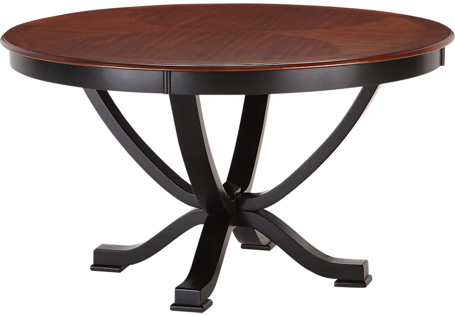 round dining tables black photo - 4