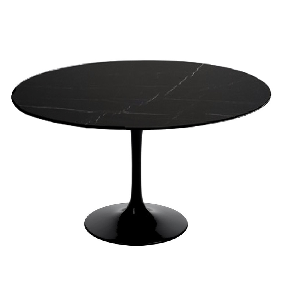 round dining tables black photo - 5