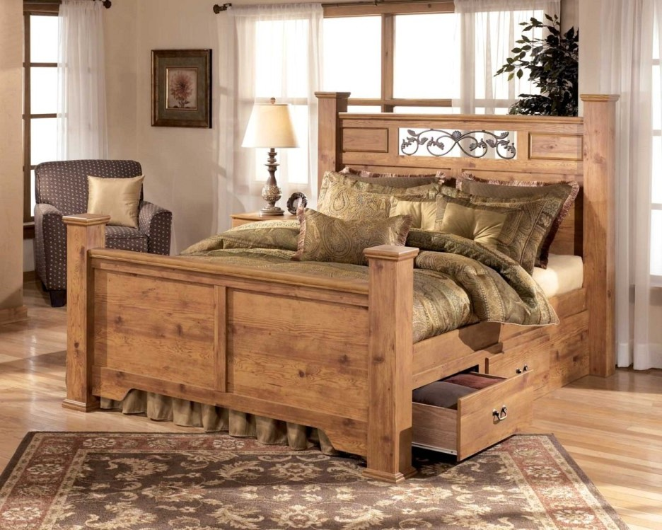 rustic black bedroom furniture photo - 10
