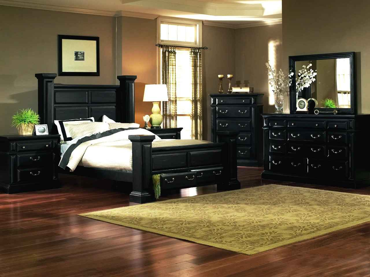 rustic black bedroom furniture photo - 3