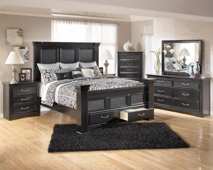 rustic black bedroom furniture photo - 8