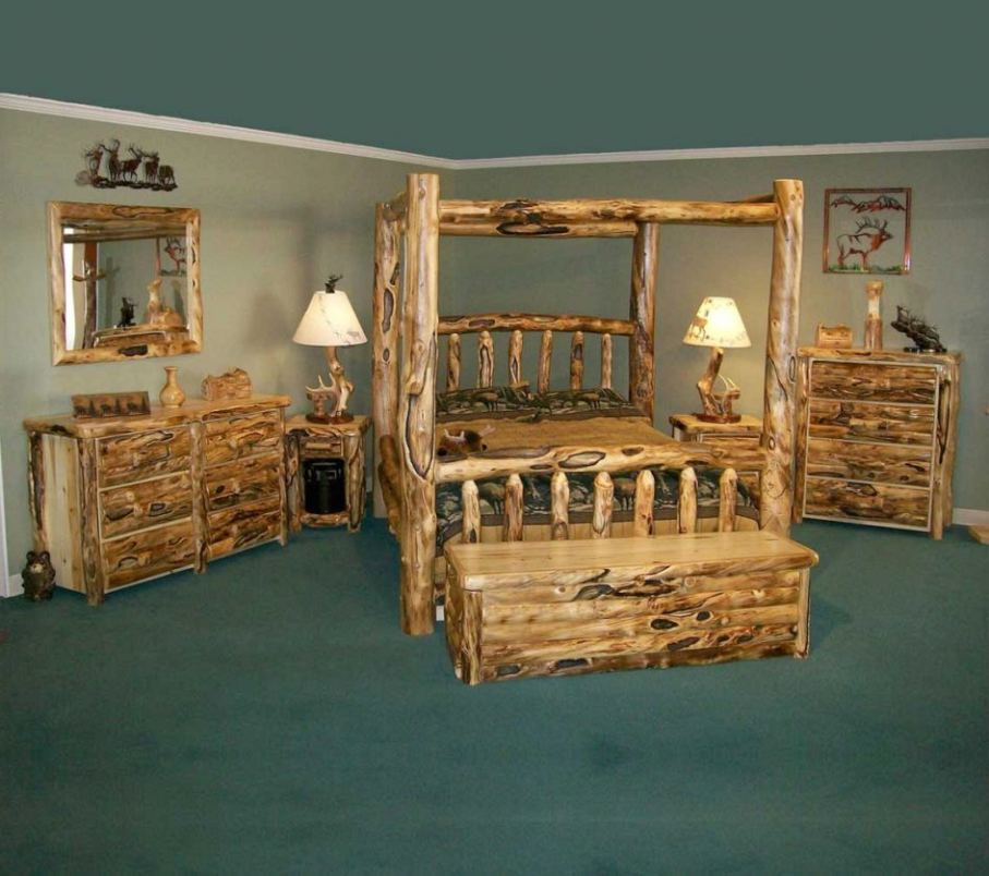 rustic black bedroom furniture photo - 9