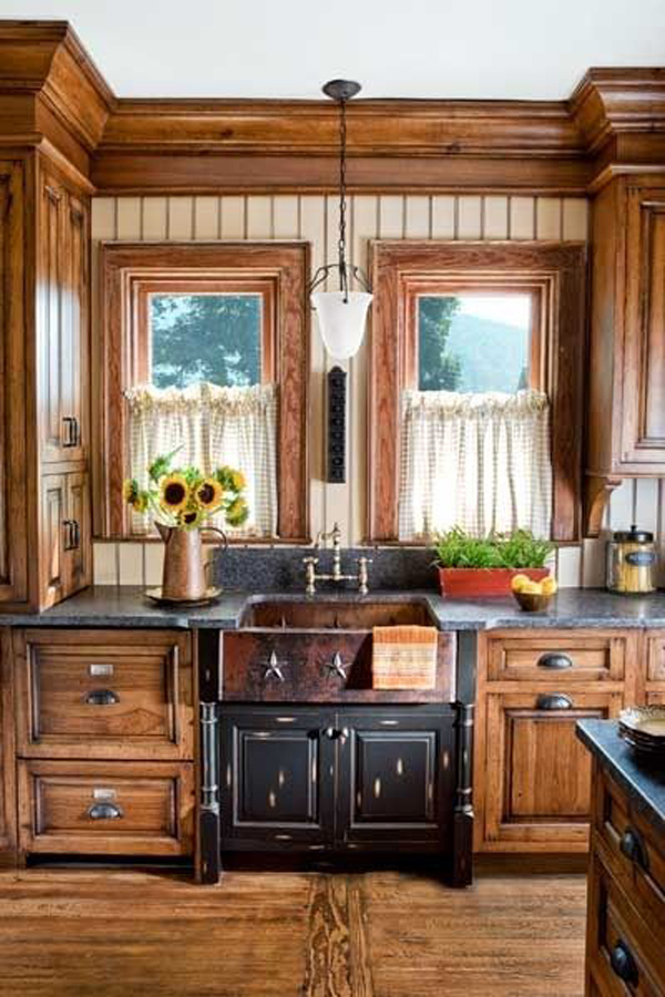 rustic country kitchen cabinets photo - 10 & Rustic country kitchen cabinets | Hawk Haven