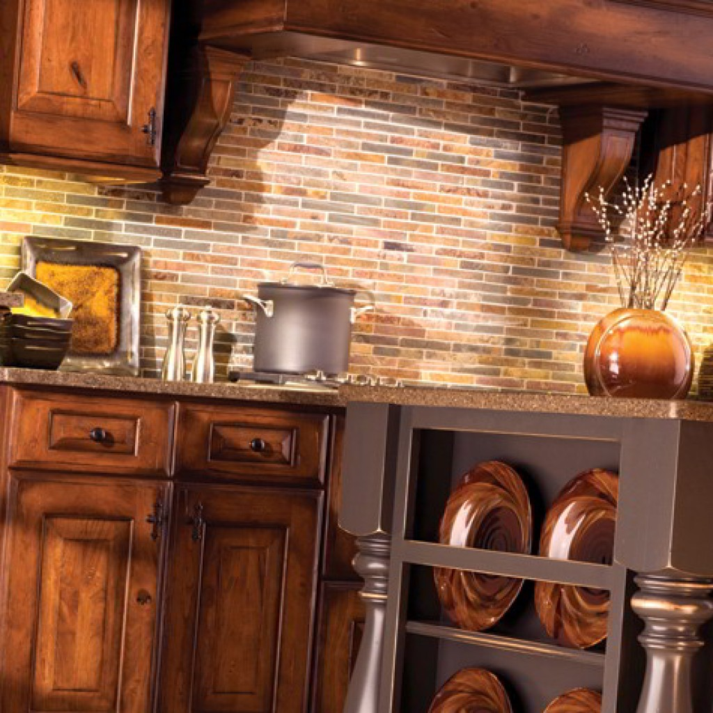 rustic country kitchen cabinets photo - 9