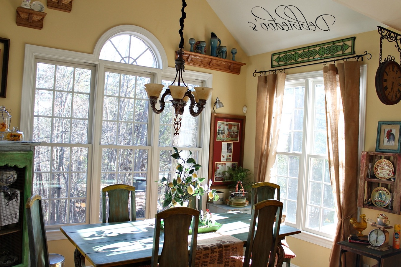 rustic country kitchen curtains photo - 10