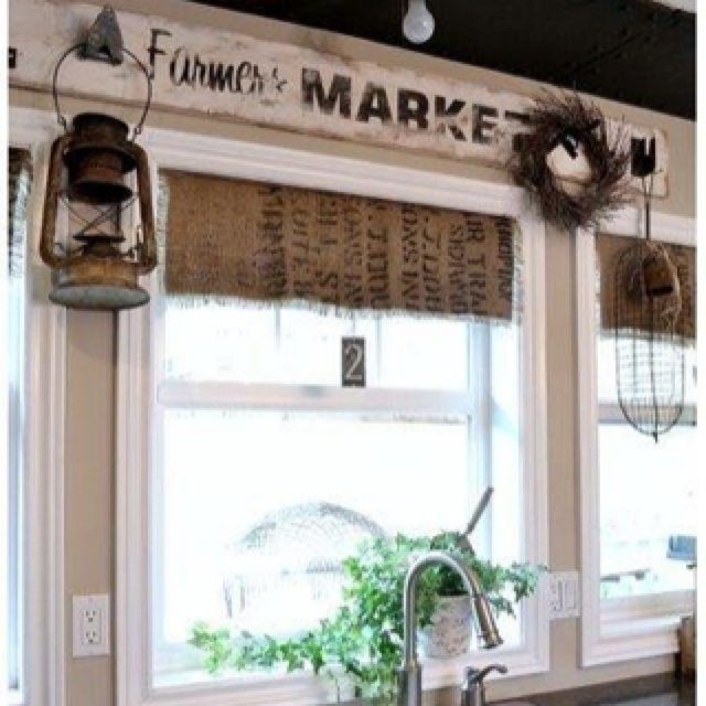 rustic country kitchen curtains photo - 3