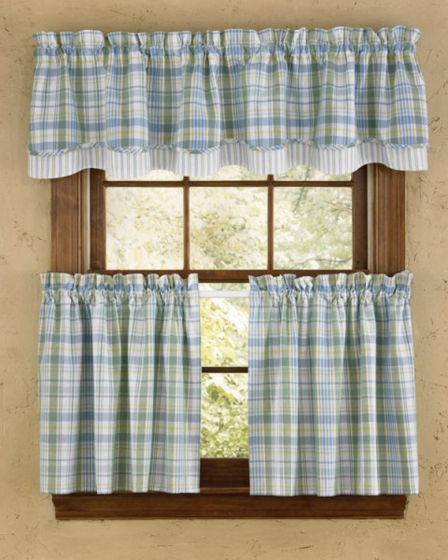 rustic country kitchen curtains photo - 4