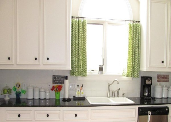 rustic country kitchen curtains photo - 5