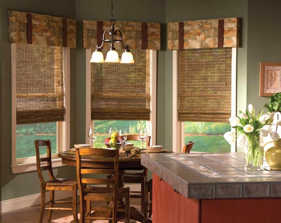 rustic country kitchen curtains photo - 8