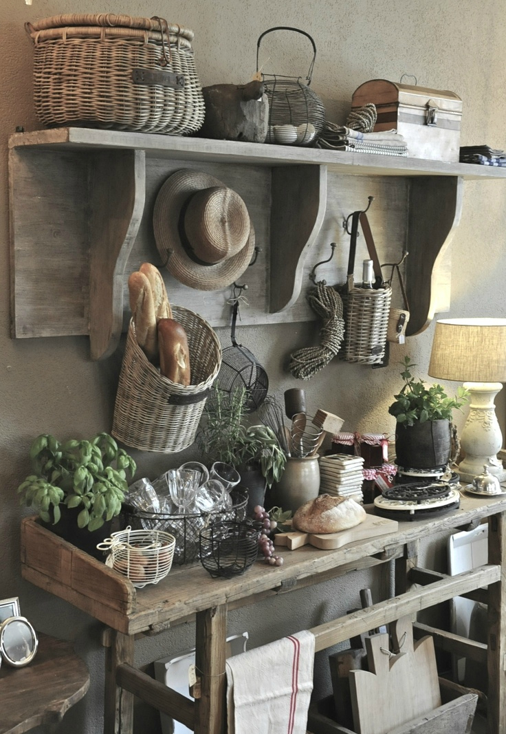 rustic country kitchen decor photo - 3