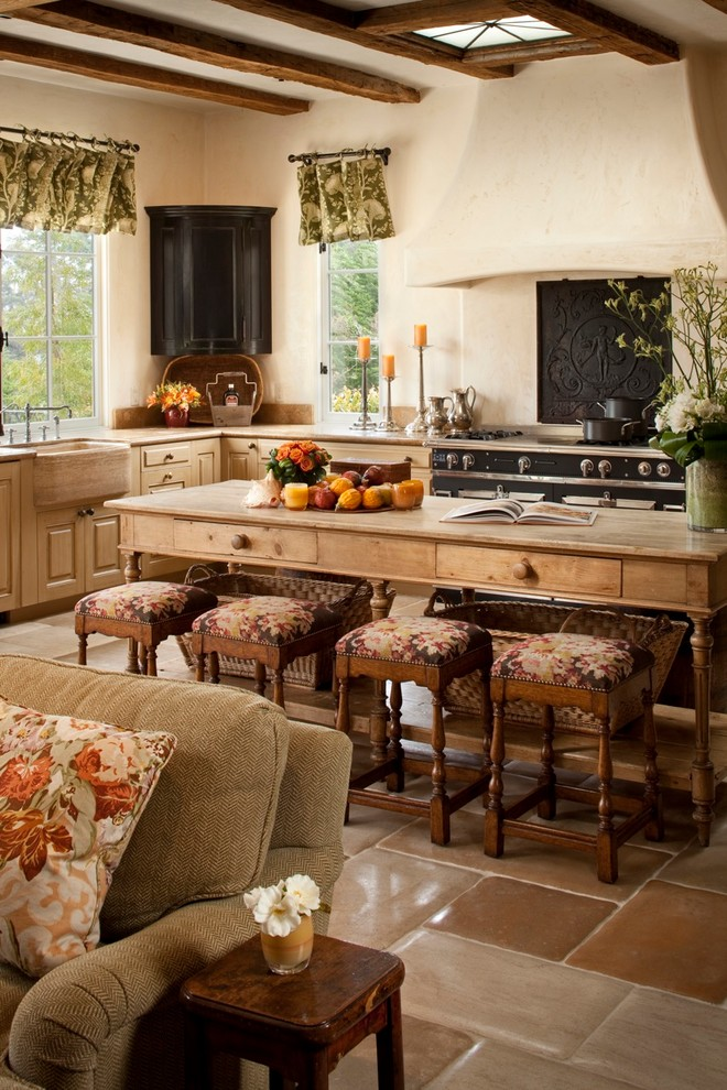 rustic country kitchen decor photo - 7