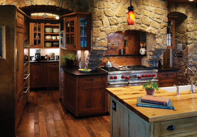 rustic country kitchen decor photo - 8