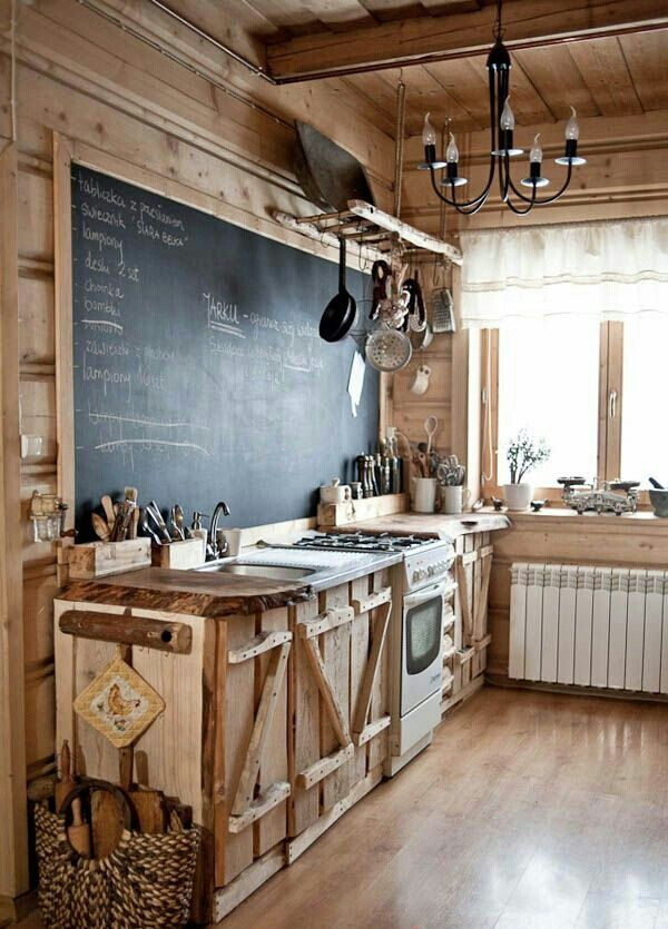 rustic country kitchen decor photo - 9