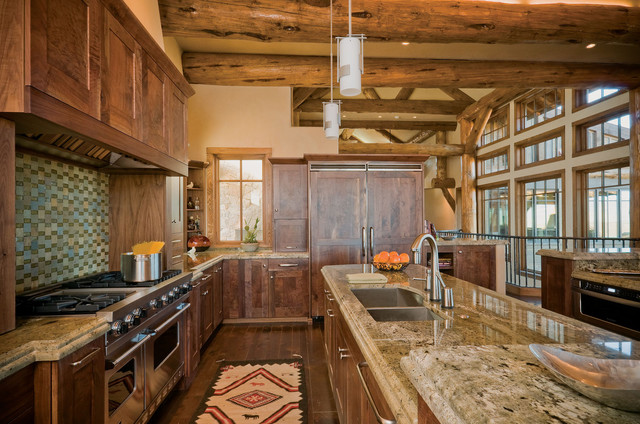 rustic country kitchen designs photo - 5