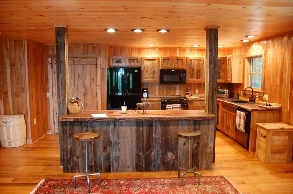 rustic country kitchen designs photo - 6
