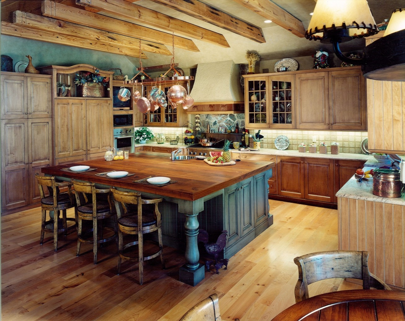 rustic country kitchen designs photo - 8
