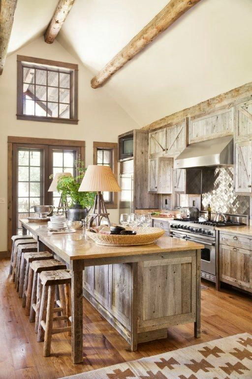 rustic country kitchen designs photo - 9
