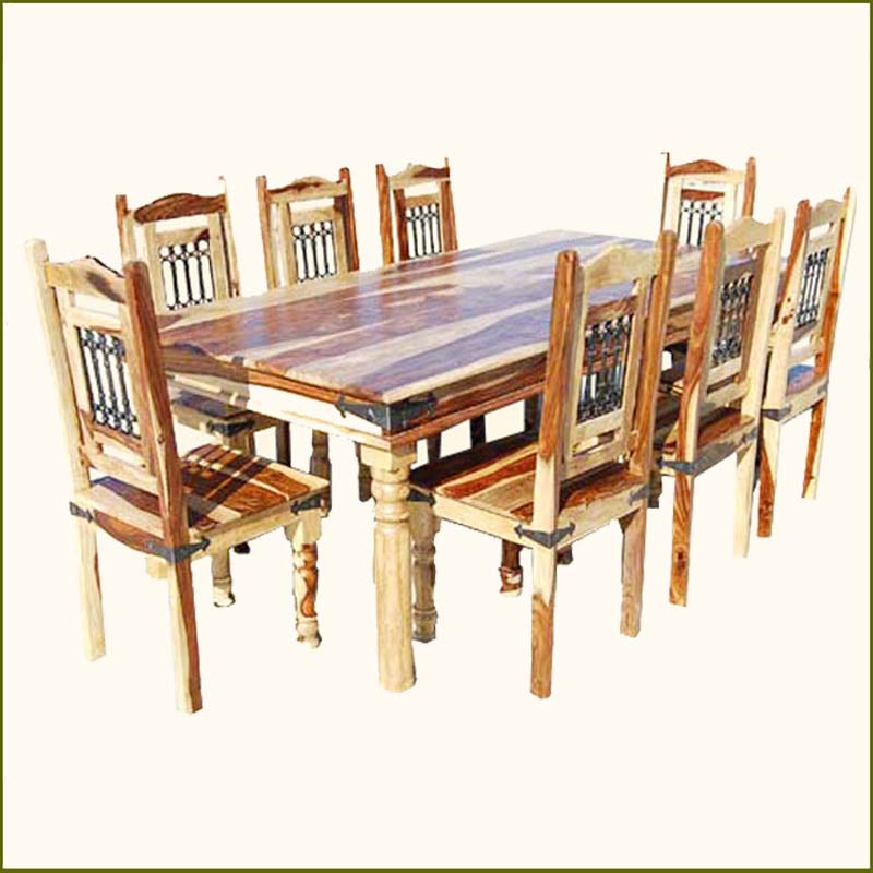 rustic dining table and chairs photo - 3