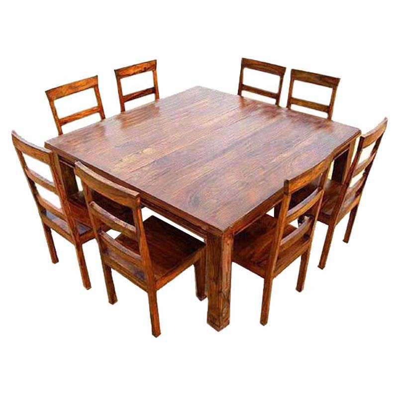 rustic dining table and chairs photo - 6