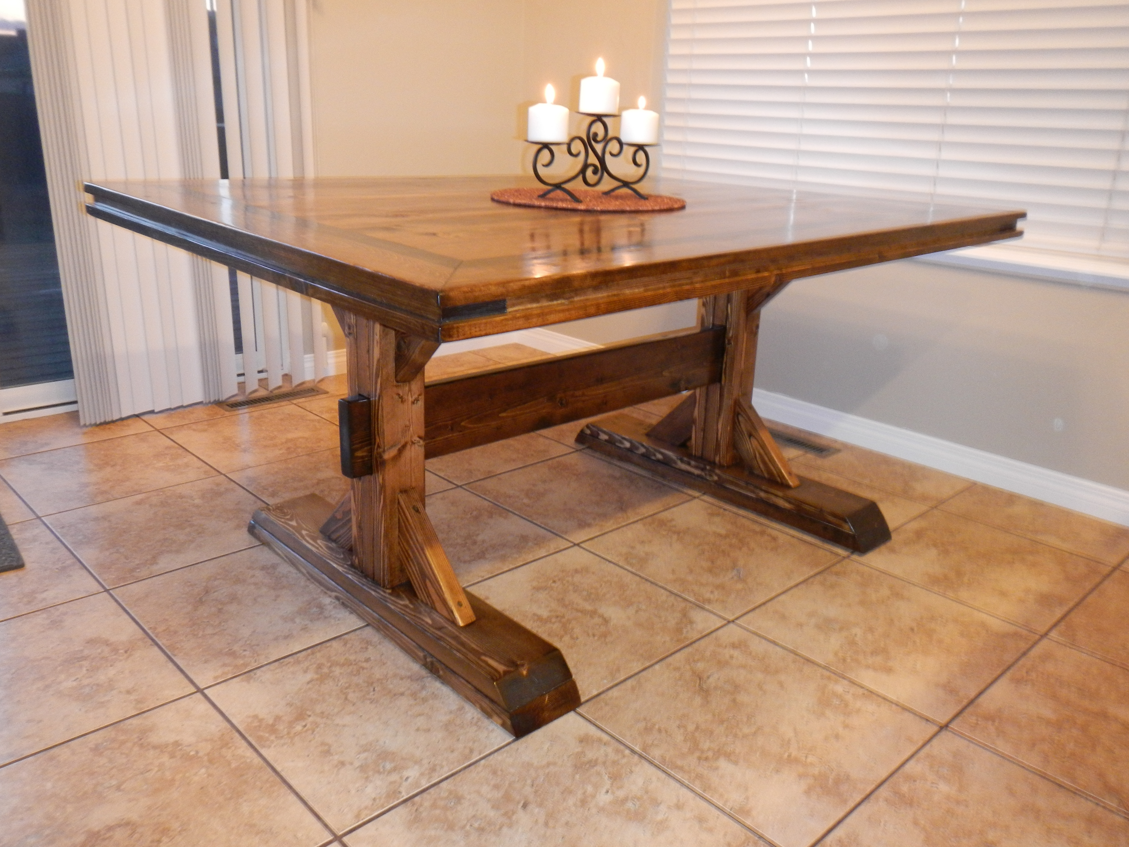 Rustic Dining Table Diy Photo   6