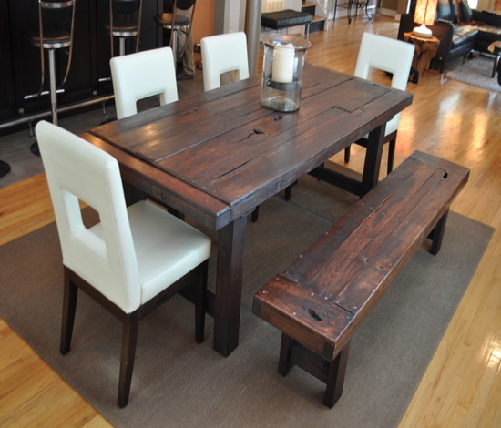 rustic dining table plans photo - 10
