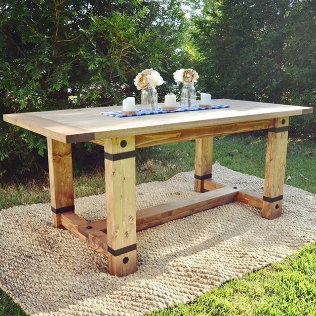 rustic dining table plans photo - 4