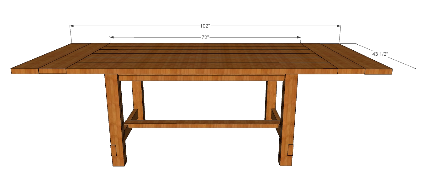 rustic dining table plans photo - 5