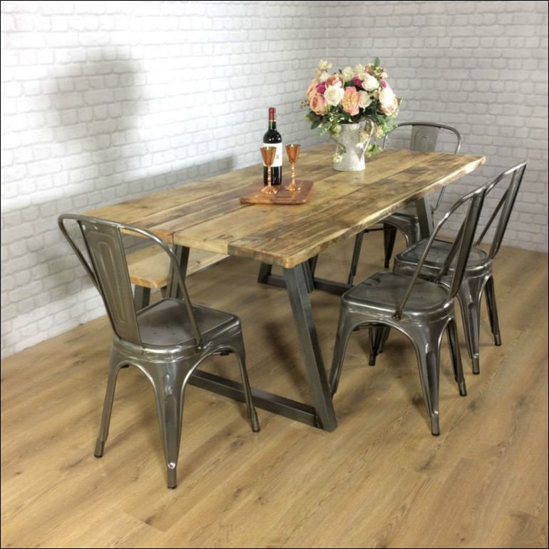 rustic dining table plans photo - 6