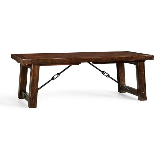 rustic dining table pottery barn photo - 1