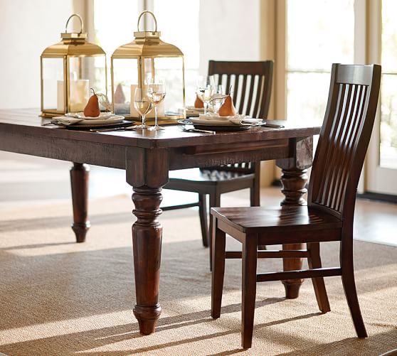 rustic dining table pottery barn photo - 10