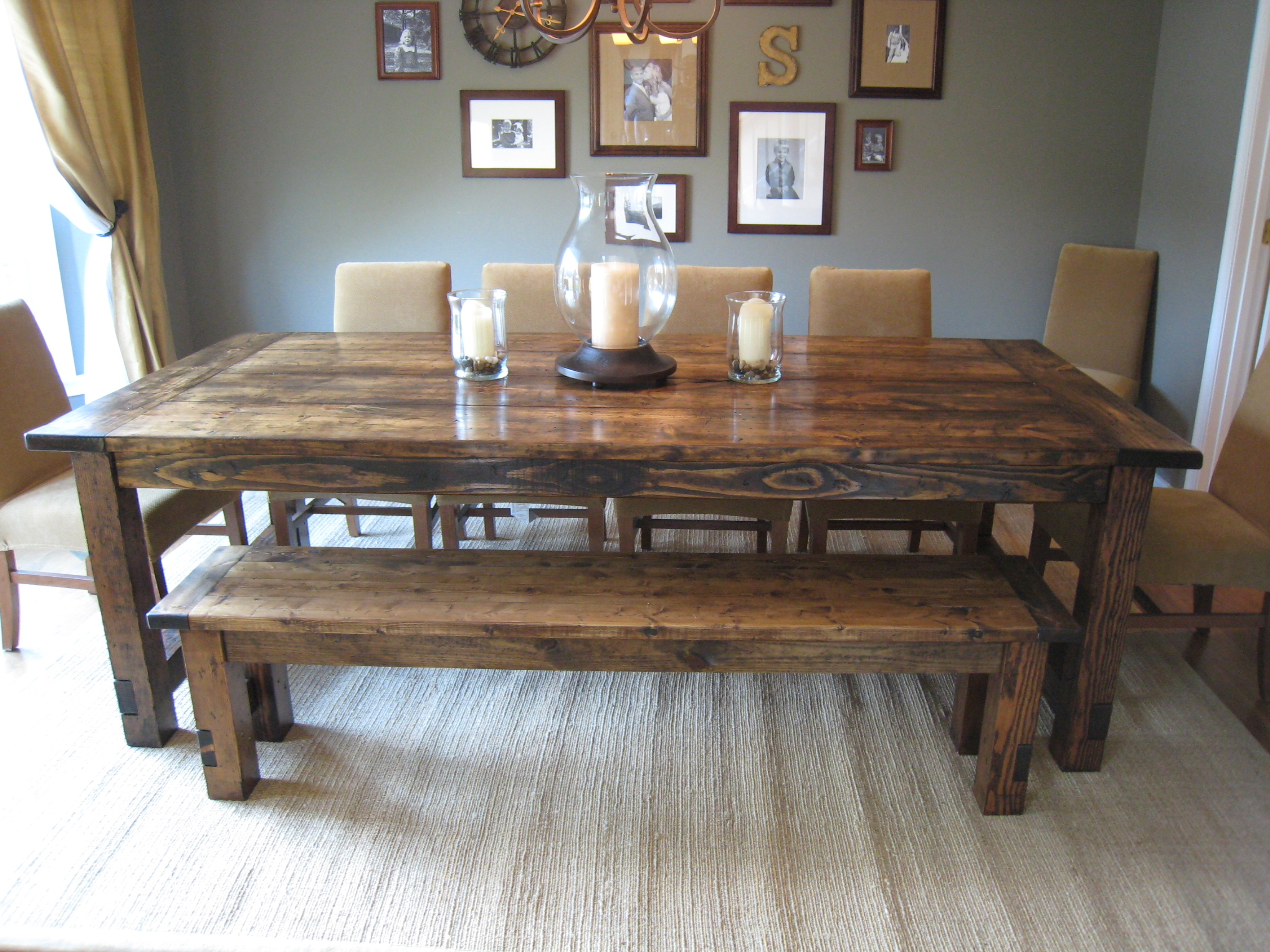 rustic dining table pottery barn photo - 3
