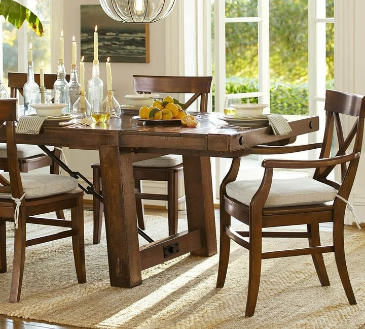 rustic dining table pottery barn photo - 7