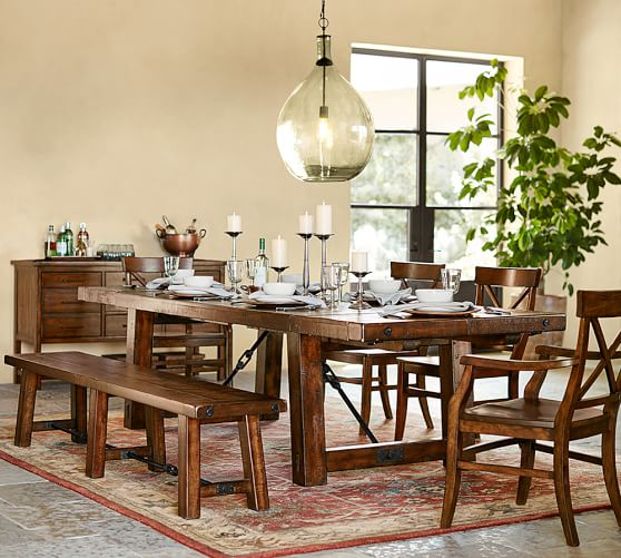 rustic dining table pottery barn photo - 8