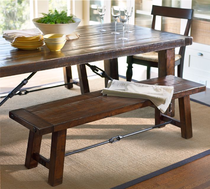 rustic dining table pottery barn photo - 9
