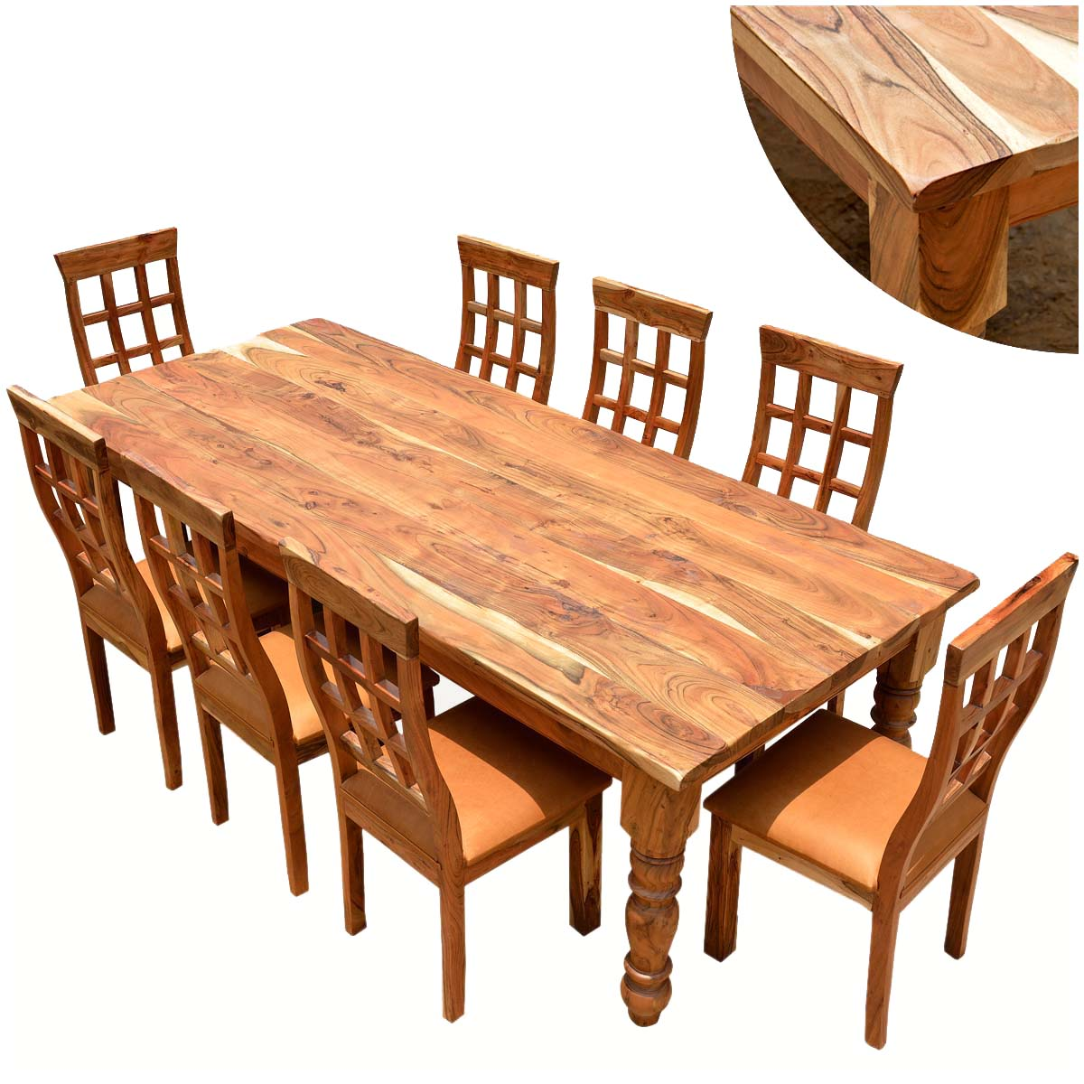 rustic dining table set photo - 10