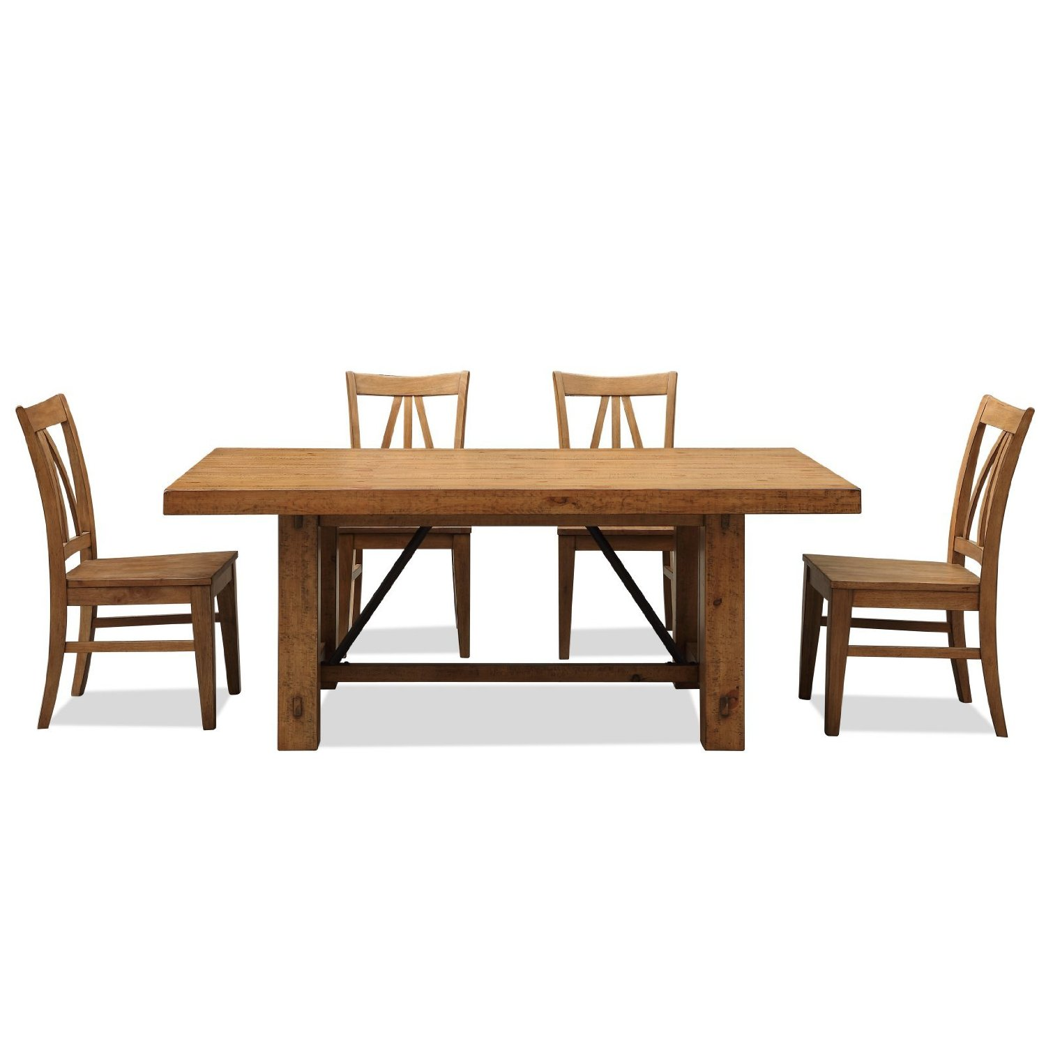 rustic dining table set photo - 2