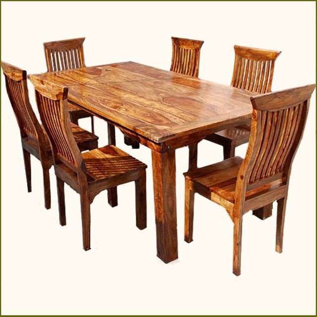 rustic dining table set photo - 3