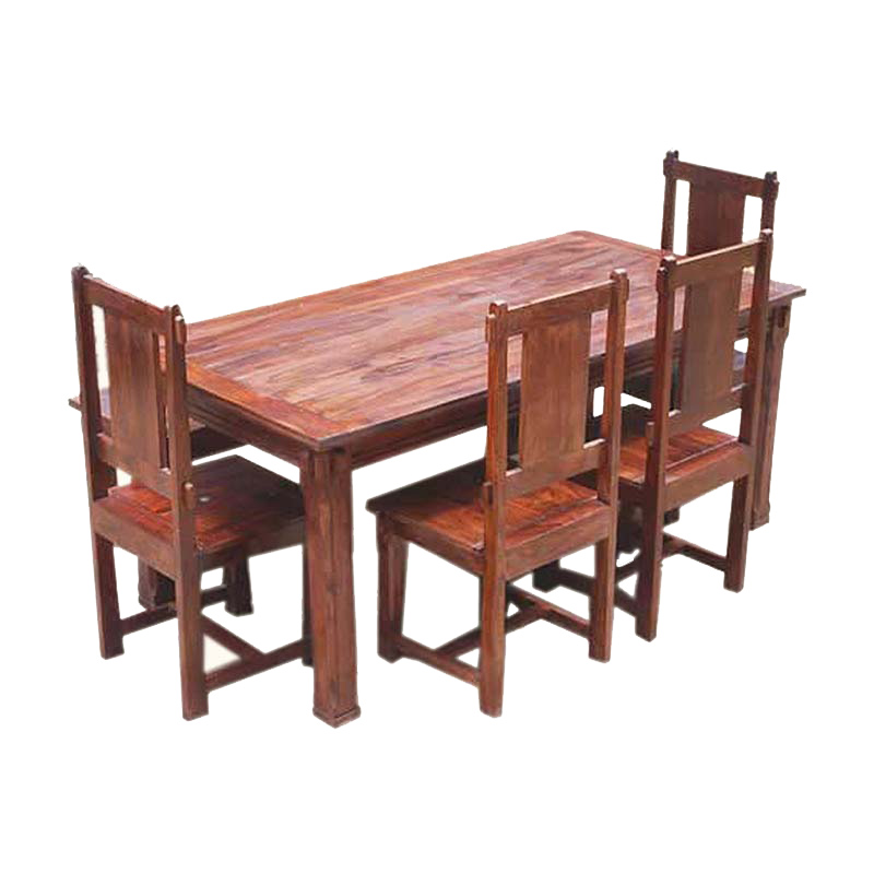 rustic dining table set photo - 4